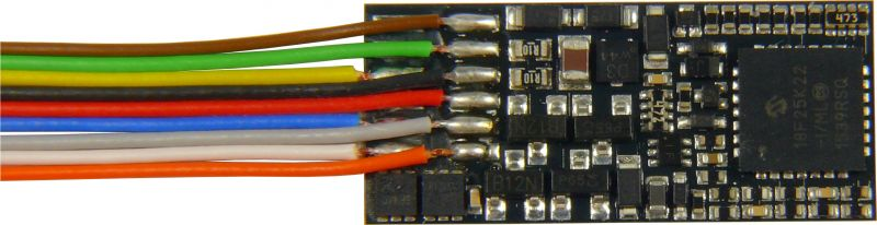 MX600 Flachdecoder - 25 x 11 x 2 mm - 0,8 A, 7 Anschlußdrähte