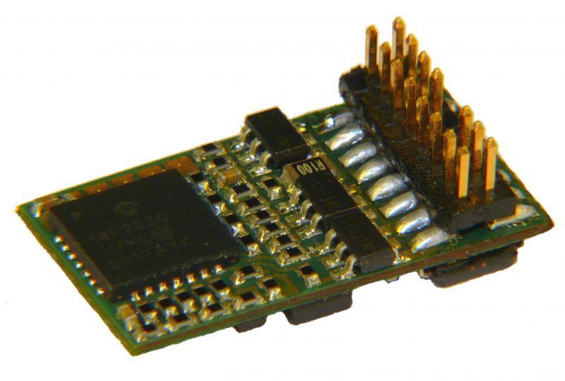 MX630P16 H0 Decoder - 20 x 11 x 3,5 mm - 1,0 A, 16-polige PluX16 Schnittstelle NEM658