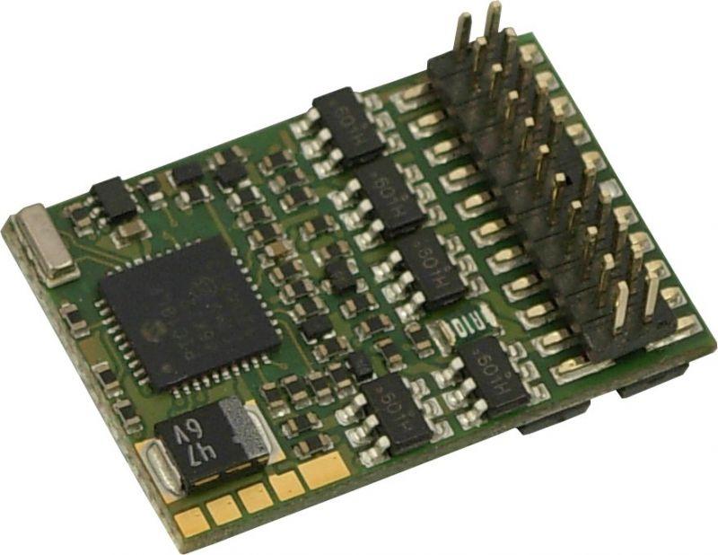 MX633P22 H0 Decoder mit Energiespeicher-Anschaltung - 22 x 15 x 3,5 mm - 1,2 A, 22-polige PluX-22 Schnittstelle NEM658